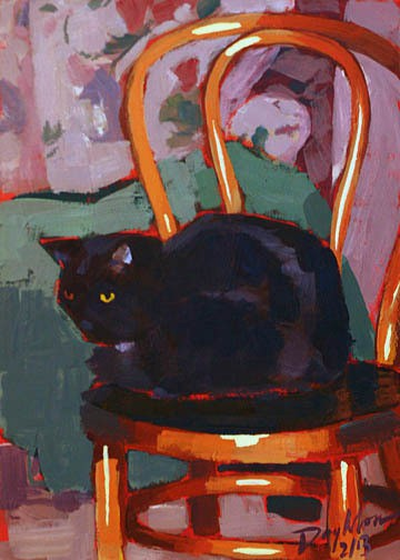006 kitty on thonet chair