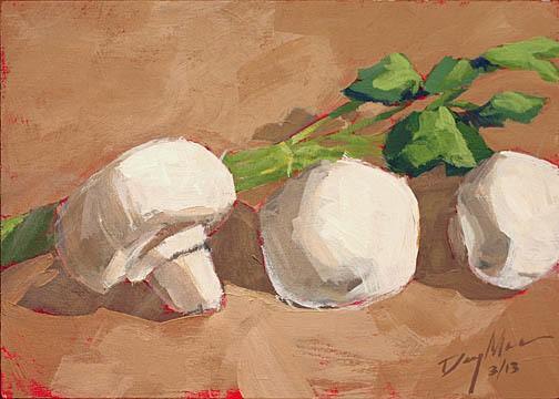 025 mushrooms acrylic on mdf